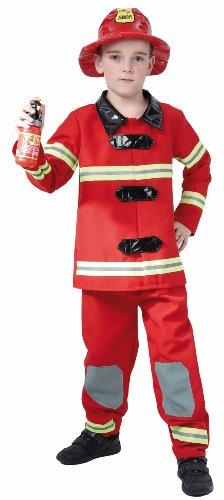 Déguisement pompier us garçon 7-9 ans - Costume carnaval enfant