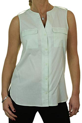 icecoolfashion dames mouwloos open hals shirt tuniek top 10-16