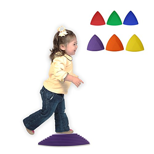 Get Out! Kids Stepping Stones 6-Pack - Balance and Eye Coordination Toy Training Tool for Children & Physical Therapy