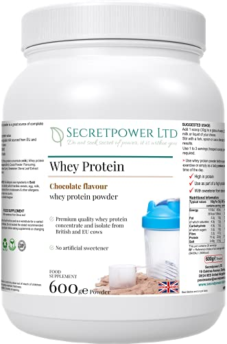 Whey Protein (Chocolate Flavour), whey Protein Powder, 600g