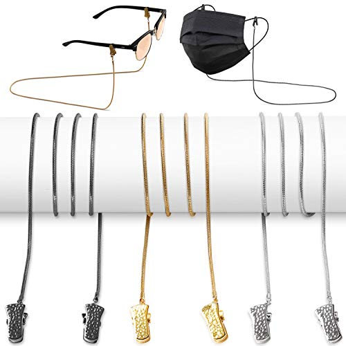 Eyeglass Chains for Women - Metal Glasses Chain - Eyeglasses String Holder Around Neck - Eyeglass Chains Cords Necklace Strap - 3 Pcs
