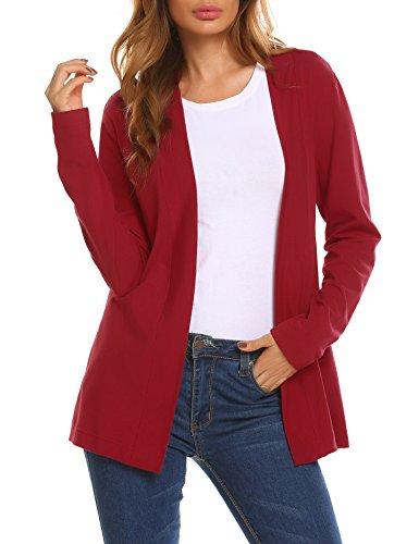 Beyove Damen Strickjacke Cardigan Bolero Strickmantel Kimono Pullover Jacke Herbst Winter Lässige Eleganz