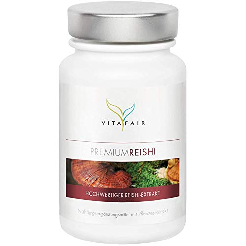 Reishi Extrakt 20:1-500mg pro Tagesdosis - 100 Kapseln - 30% Bioaktive Polysaccharide - Hochdosierter Ganoderma Lucidum - Vegan - Ohne Magnesiumstearat - Made in Germany