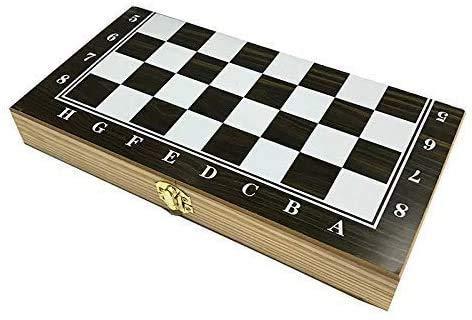 Schach-Set-Brettspiel für Kinder Erwachsene Entwürfe Schach-Set, Internationales Schach 29cm Hölzerne Backgammon-Kontrolleure Indoor International Schach-Set Gedruckt Schachbrett Reisebranchen Spiele