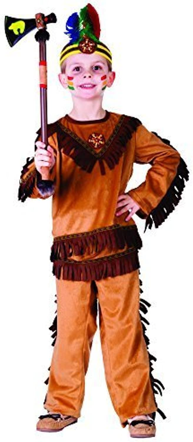 Indian Warrior Boy Costume - Size Large 12-14 by Dress Up America