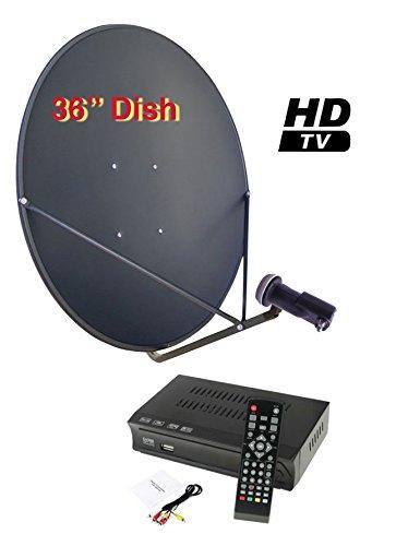"Sadoun S1-PVR200 36"" FTA Complete HD DVR Satellite System Free to Air"