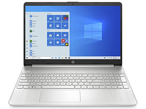 HP 15.6' Full HD Laptop - Silver (Intel Pentium Gold, 4GB, 128GB SSD Drive, Wi-Fi, Bluetooth, Full Size Keyboard, Windows 10) & TechieHome Wireless Mouse