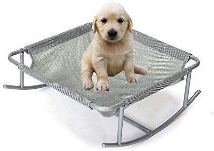 YLCJ Verhoogd hondenbed voor binnen/buiten schommelstoel Kampeermand Staal frame Verhoogd bed voor puppy's, katten, konijnen of andere dieren 46 x 46 x 19 cm