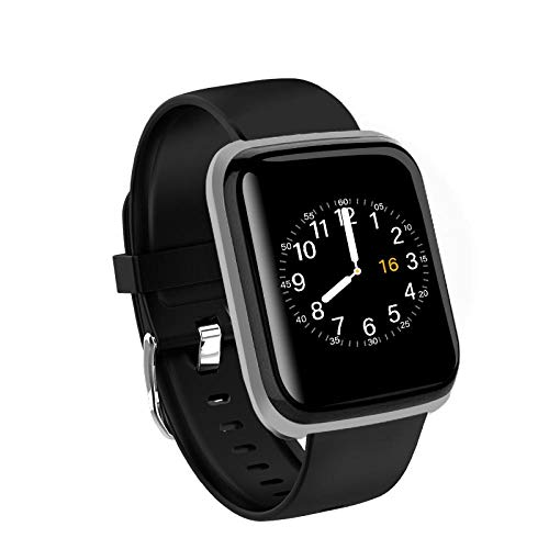 Generies Fitness-Tracker Neue Smart Watch Männer Blutdruck wasserdichte Smartwatch Frauen Herzfrequenzmesser Fitness Tracker Uhr Sport für Android IOS Schwarz