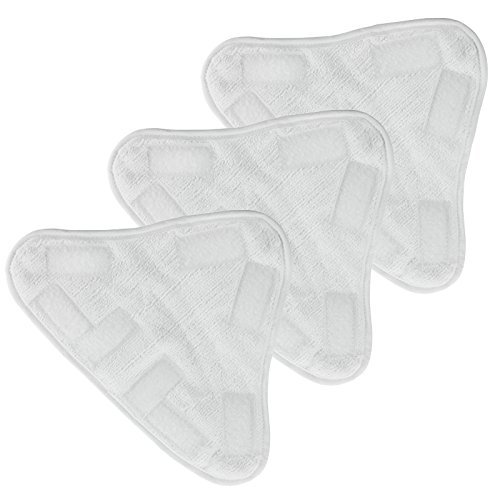 Spares2go Microfibre Washable Cleaning Pads for Abode ASM2001 Steam Cleaner Mop (Pack of 3)