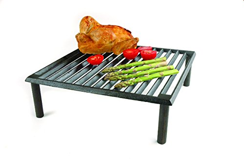 "Steven Raichlen Best of Barbecue Cast Iron x Steven Raichlen SR8024 Best of Barbecue Tuscan BBQ Grill,14"", 14"" L x 14"" W"