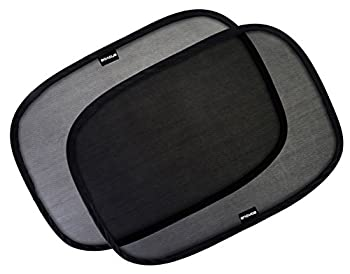 Enovoe Car Window Shade -  4 Pack  - 21 x14  Cling Sunshade for Car Windows - Sun Glare and UV Rays Protection for Your Child - Baby Side Window Car Sun Shades
