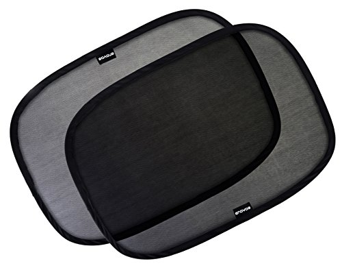 "Enovoe Car Window Shade - (4 Pack) - 21""x14"" Cling Sunshade for Car Windows - Sun, Glare and UV Rays Protection for Your Child - Baby Side Window Car Sun Shades"