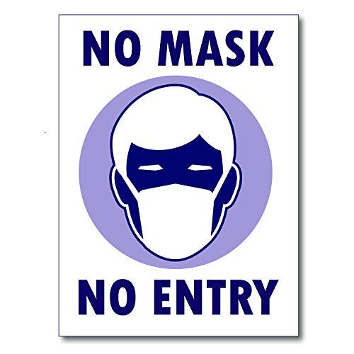 Covid 19 No Mask No Entry Poster Sign Laminated Extra Large (24x30)