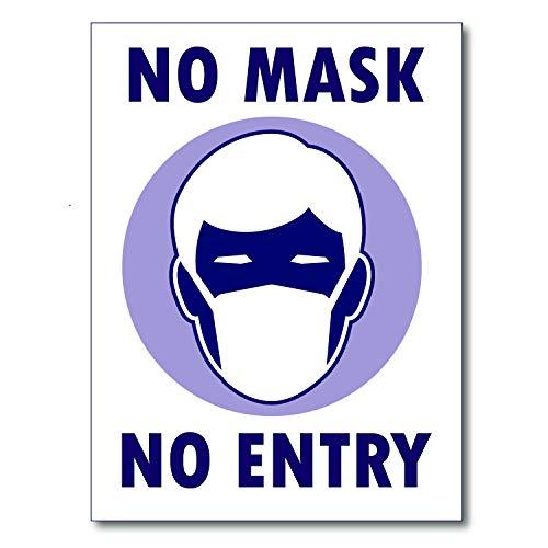 Covid 19 No Mask No Entry Sign Laminated (15x20)