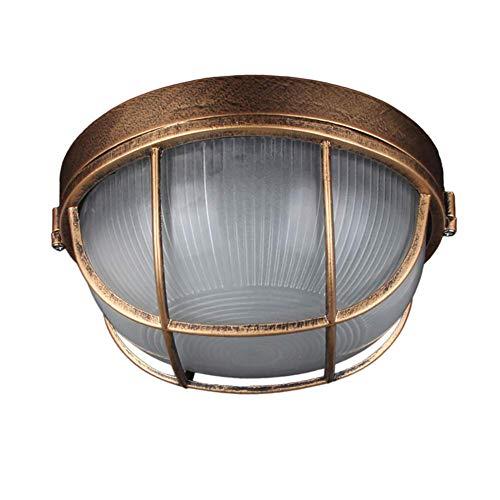 Nerioya wandlamp, industriële, retro, scheidingswand van aluminium, rond, buitenlamp, marineblauw, industriële vintage [energie-efficiëntieklasse A++]