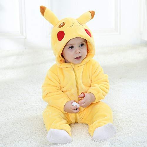 Einhorn Pyjama Jumpsuit Baby-Kleidung Tierbaby-Strampler Kostüm New Bebe Kleidung Panda Kapuze Kleinkind Baby-Body-Pyjamas Winter-Jungen-Overall geboren (Color : B, Size : 12M)