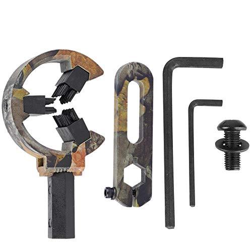 Tbest Descanso de Flecha, 2 Tipos Cepillo de Camuflaje Universal Descanso de Flecha Arco Compuesto Arco recurvo Tiro con Arco TP812(Camuflaje)