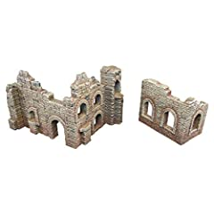 3D printed with eco-friendly PLA plastic, a role playing game model set 2 pieces of terrain buildings; perfect for a wargaming landscape! Paintable (primer recommended) Suitable for medieval, contemporary, and futuristic war game settings and battles...