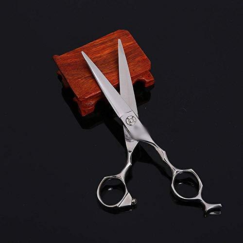 ZLININ Y-Longhair 6-Pulgadas de Pantalla Plana Tijeras del Peluquero Especial de Alta Gama Profesional de peluquería Herramientas Tijeras (Color: Plata)
