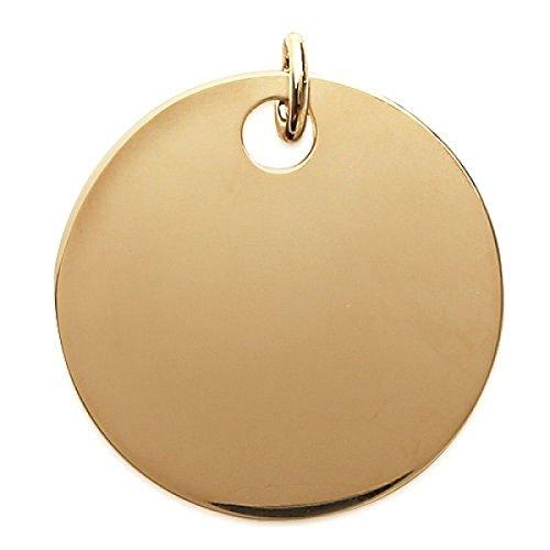 MARY JANE-Ciondolo placcato oro da uomo/donna, diametro: 35 mm, placcati oro) (rotondo con incisione in omaggio