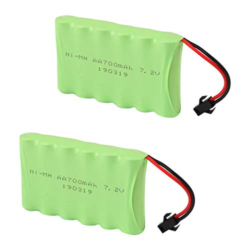 Crazepony-UK 2PCS 7.2V 700mAh Battery Pack with SM Plug for 4WD RC Car repalcement Batería