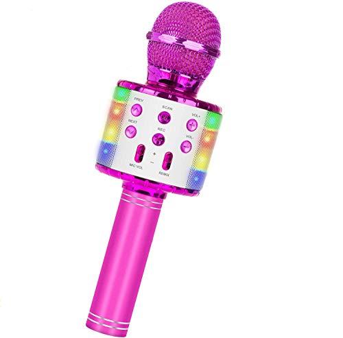 Micrófono Inalámbrico Bluetooth Karaoke,5 en 1 con Altavoz PortáTil...