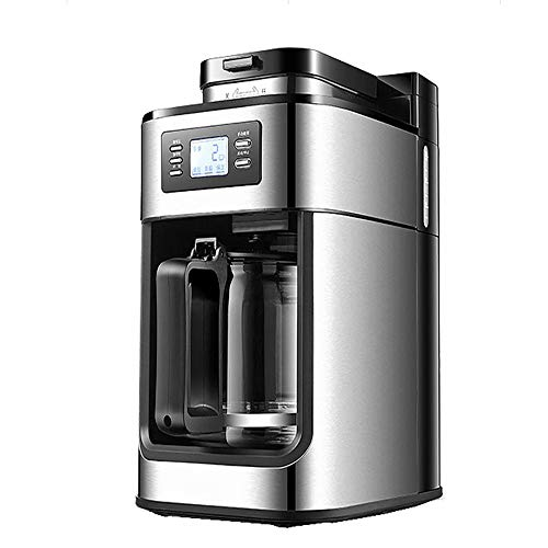 ZGZXD Molinillo de Frijoles automático Cafeteras de Goteo, Máquina de café de Goteo doméstica Cafetera, Máquina de café American Express