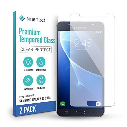 smartect Schutzglas kompatibel mit Samsung Galaxy J7 2016 [2 Stück] - Tempered Glass mit 9H Härte - Blasenfreie Schutzfolie - Anti-Kratzer Displayschutzfolie