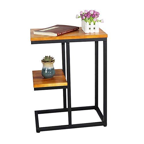 Home&Selected Retro fineer/metaal van massief hout, industriële stijl, salontafel, 45 x 30 x 60 cm