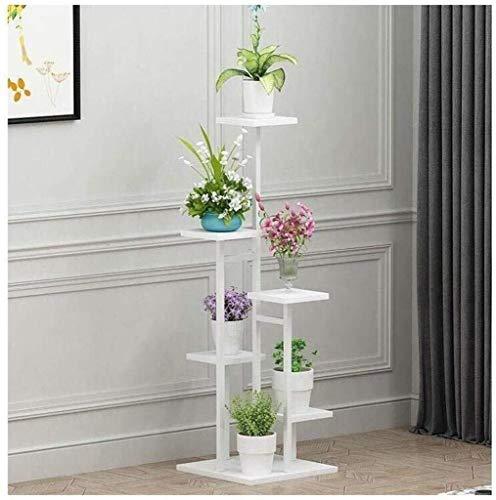 ZhuFengshop Blomställ blomställ flera lager inomhus blomkruka stativ vardagsrum sovrum växt display stativ montering golvstativ trädgård, uteplatser (färg: vit)