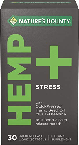 Hemp + Stress by Nature's Bounty, to Support a Calm, Relaxed Mood, 30 Rapid Release Liquid Softgels