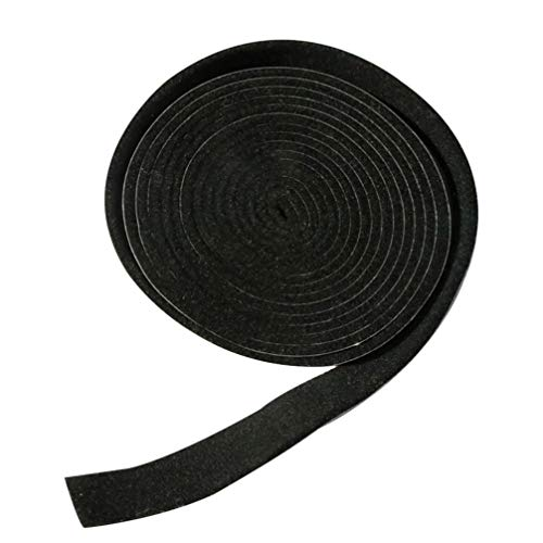 Hemoton 1 Roll BBQ Seal 3.6M Self Adhesive Smoker Door Gasket Fire Cooking Seal Gasket for Outdoor Camping Accessories (Black)
