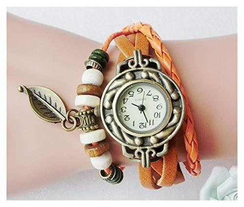 Chenhan Moda Multicolor Mujeres de Cuero Genuino Vintage Vestido de Cuarzo Reloj...
