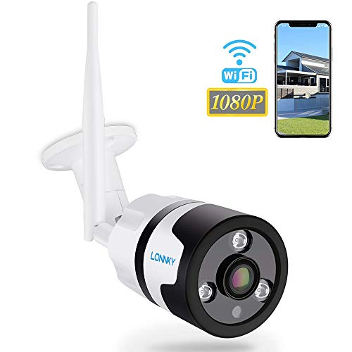Tonton 1080P Überwachungskamera Aussen Wlan/IP66 WLAN IP Kamera mit Deutscher Anleitung, Bewegungserkennung, 25m Nachtsichtfunktion,TF Karten und Kompatibel mit Smartphones,Tablets und Windows PC