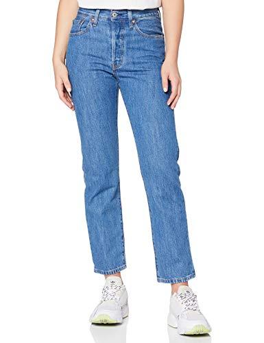 Levi's 501 Crop Jeans, Sansome Breeze Stone, 23W / 26L Donna