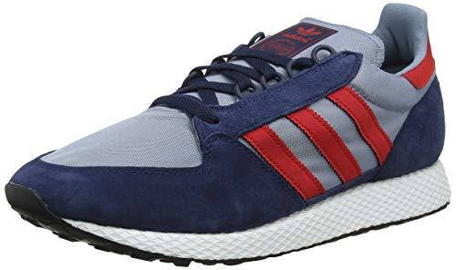 adidas Forest Grove, Zapatillas de Gimnasia Hombre, Azul (Collegiate Navy/Collegiate Red/Tactile Blue Collegiate Navy/Collegiate Red/Tactile Blue), 43 1/3 EU