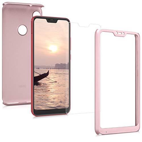kwmobile Xiaomi Redmi 6 Pro/Mi A2 Lite Hülle - komplette Abdeckung - INKL. Display Schutzglas - Case für Xiaomi Redmi 6 Pro/Mi A2 Lite - Fundas para teléfonos móviles (Xiaomi, Redmi 6 Pro/Mi A2 Lite)