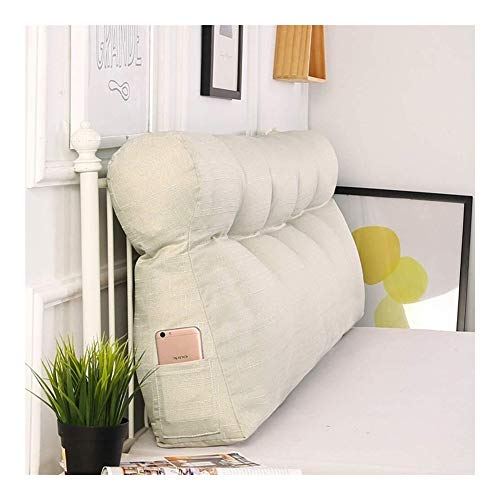 Triangular Large Wedge Pillow Headboard Reading Backrest Cushion For Sofa Bed Day Bed Upholstered Cushions Double Stripe Bolster Pillow Long Pillow Cushions (Color : 8#, Size : 180x50x15cm)
