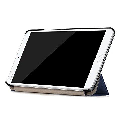 Kepuch Custer Huawei M3 8.4 Hülle - Shell Schutzhülle PU Tasche Smart Case Cover für Huawei M3 8.4 - Blau - 5
