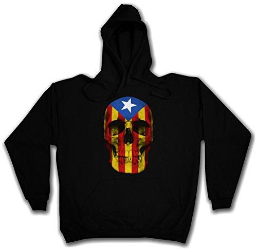 Urban Backwoods Catalonia Skull Flag Hoodie Sudadera con Capucha Sweatshirt Negro Talla 2XL