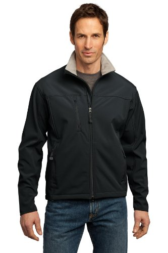 Port Authority® Glacier® Soft Shell Jacket. J790 Black/Chrome M