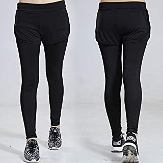 Tight-fitting leggings fitness pants women quick-drying stretch yoga pants fake two new running sports pants