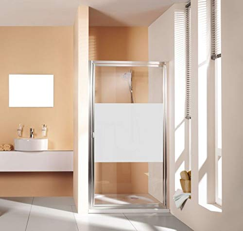 Glasdekor Intimstreifen für Dusche 2-teilig teilsatiniert, satinierter Streifen, Blickschutz - für Dusche
