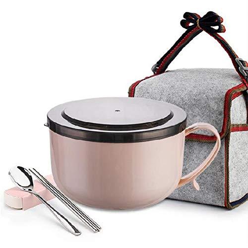 Isolation Boîte À Lunch for Hommes Et Femmes À Manger Live School Boîte À Lunch Étudiant Instant Noodle Bowl Cantine Employé De Bureau High School Lunch Box Simple (Color : Pink)