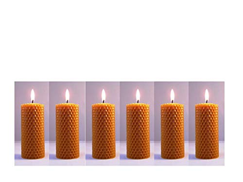 Norfolk Beeswax Company - 6 x Pure Natural Beeswax Candles