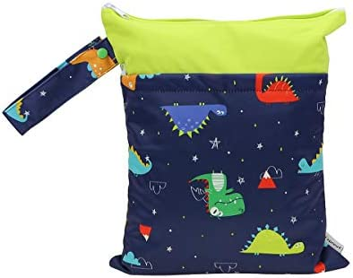Hi Sprout Grab and Go Wet Dry Cloth Diaper Bags Waterproof Washable Reusable Diaper Organizer product image