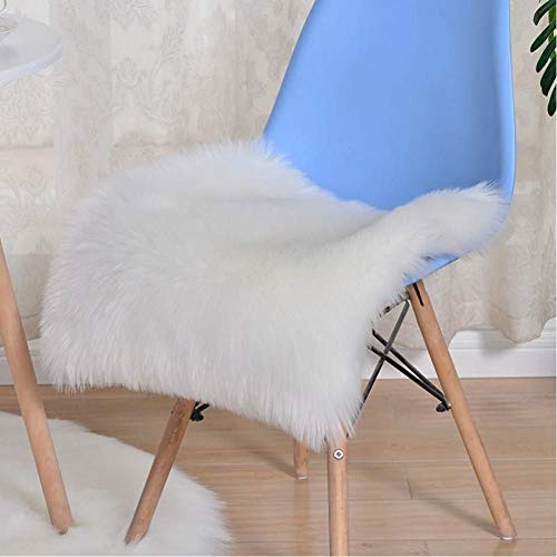 generio Cushion For Sofa Couch Office Chair Seat Artificial Wool Chair Desk Mattress