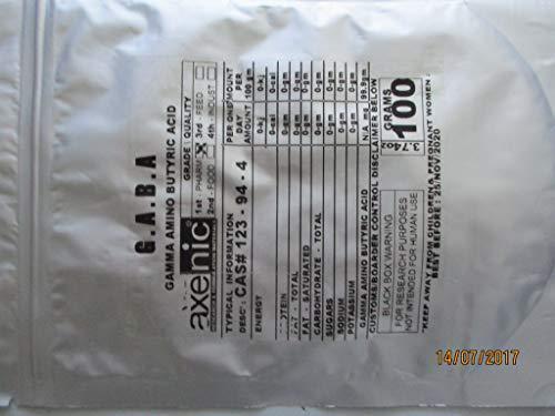 AXENIC 100 Grams GABA Powder Gamma Amino BUTYRIC Acid CAS# 123-94 - 4