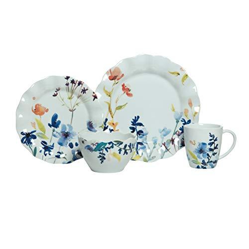 Fitz and Floyd Floral Splash 16-Piece Dinnerware Set, Assorted